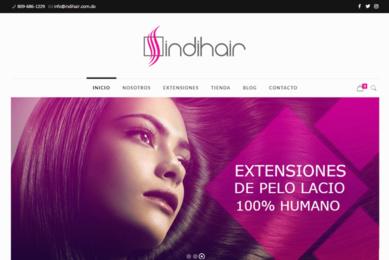 Portada. Desarrollo de pagina web Indi Hair