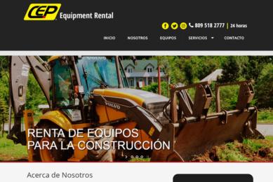 Portada desarrollo pagina web CEP Rental