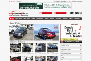 Desarrollo de pagina web Autoimportadores
