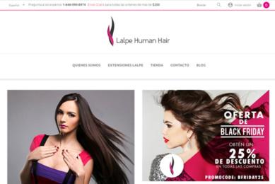Portada página web Lalpe Human Hair