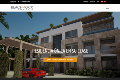 Pagian web Condo Beach Rock Portada