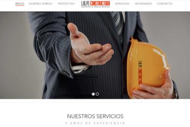 Portada desarrollo de pagina web Lalpe Constructora