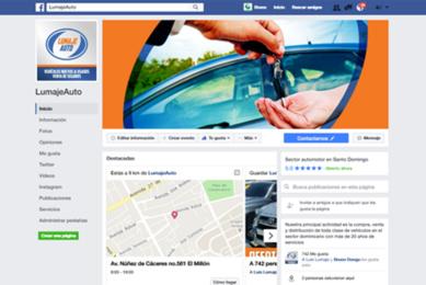 Gmedia Dominicana, Marketing digital. Manejo de Redes Sociales, Facebook. Lumaje Autos