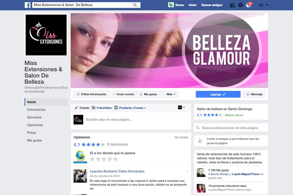 Gmedia Dominicana, Marketing digital. Miss Extensiones