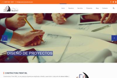 Portada desarrollo de pagina web Constructora Trent