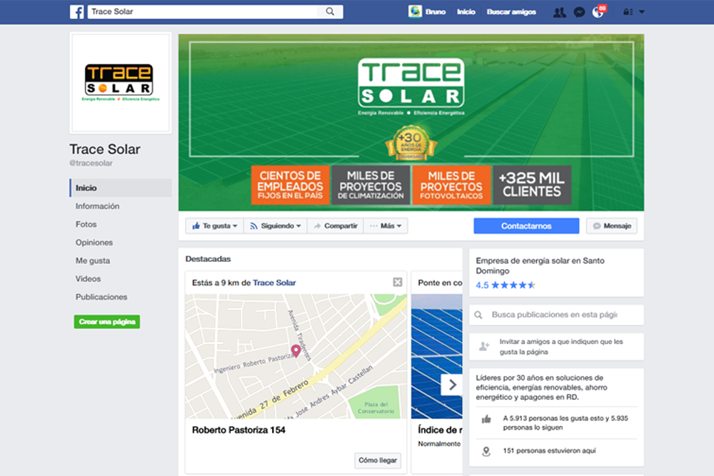 Gmedia Dominicana, Marketing digital. Trace Solar